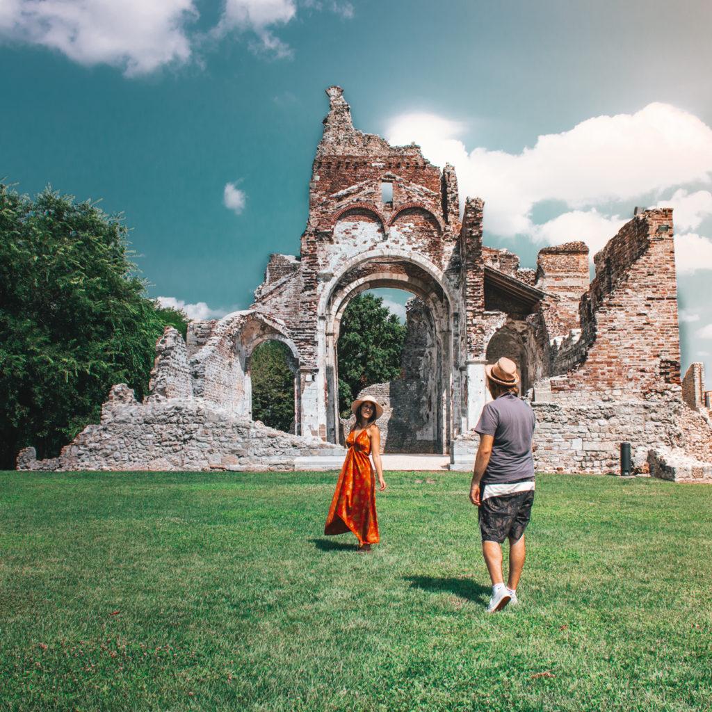 abbazia di sant'eustachio. Frontale