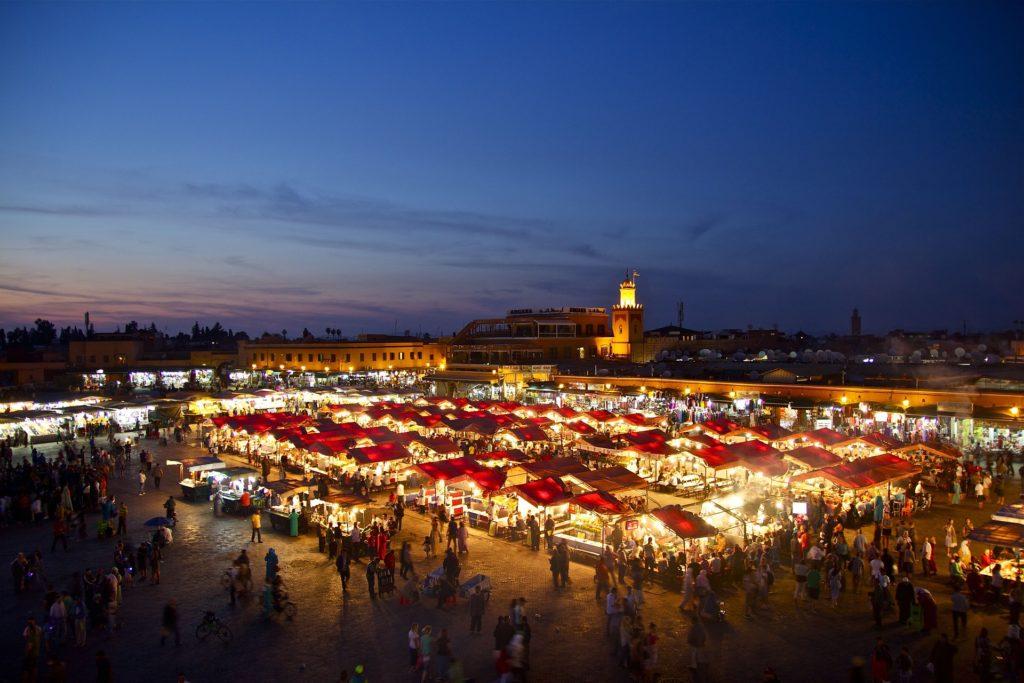 Marrakech di notte