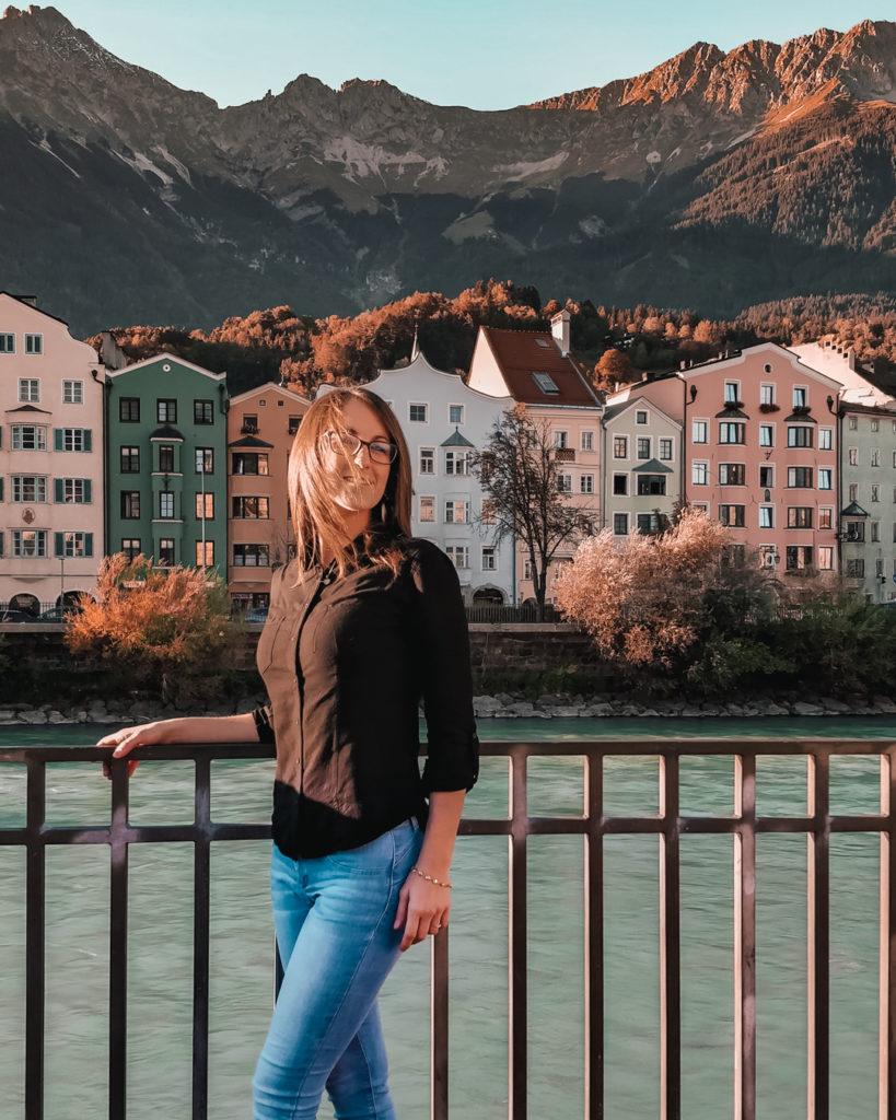 diva su fiume Inn a Innsbruck