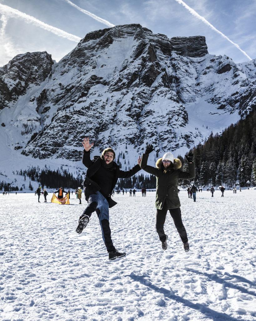 Saltando sul ghiaccio
