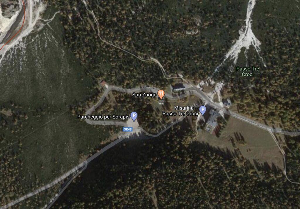 Come raggiungere il lago di sorapis Il passo tre croci