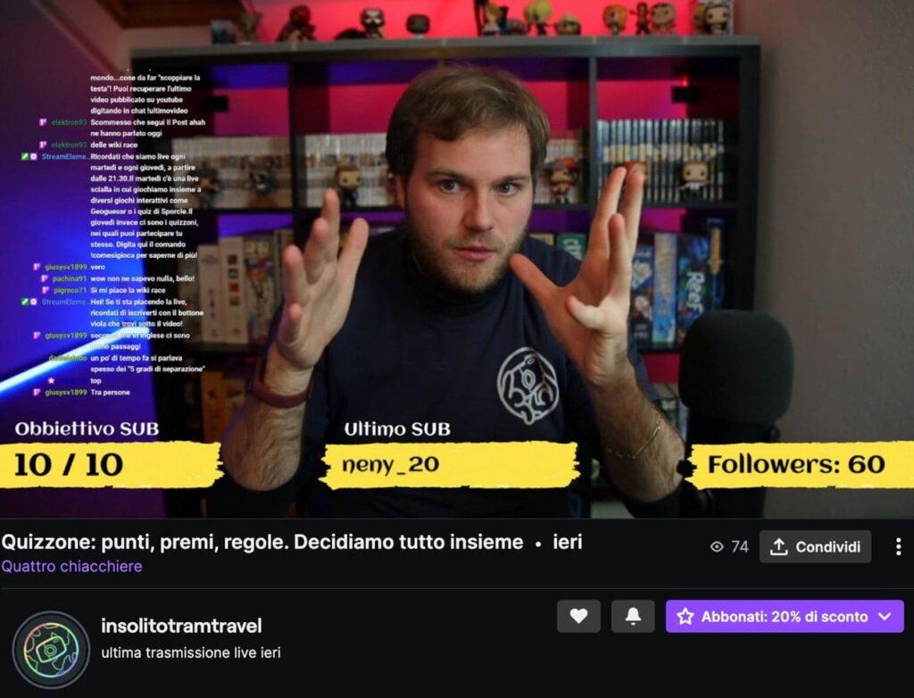 schermata twitch
